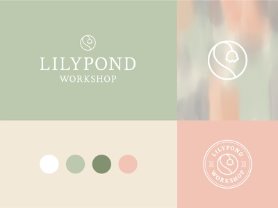 Brand Identity for Lilypond Workshop shop pattern floral lily identity logo branding illustrator icon design