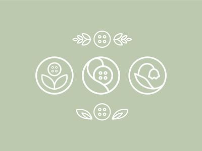 Unused Logo Marks shop identity mark button floral logo branding illustrator icon design