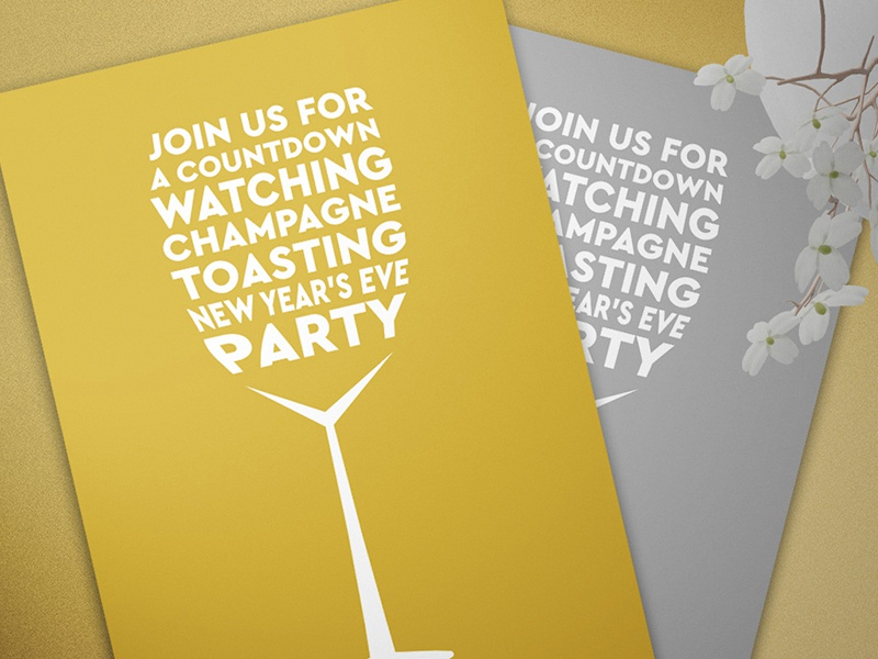 invitation template new years eve ring in the new year new york champagne glass wine