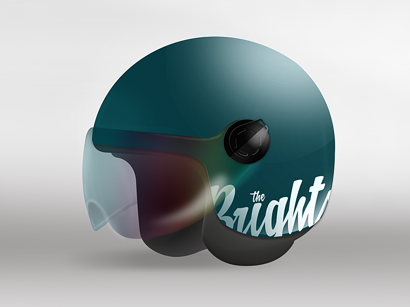 Retro helmet photoshop illustrator practice helmet