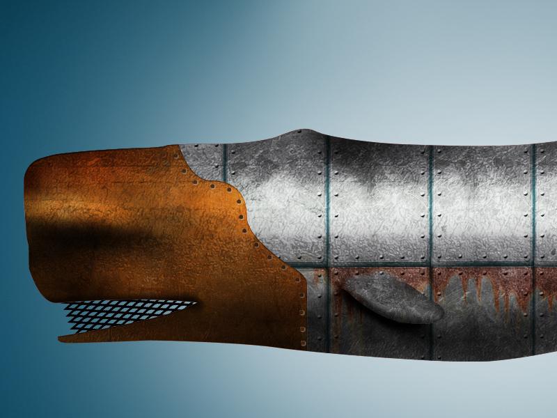 Sperm Whale 2 illustration photoshop whale metal justforfun