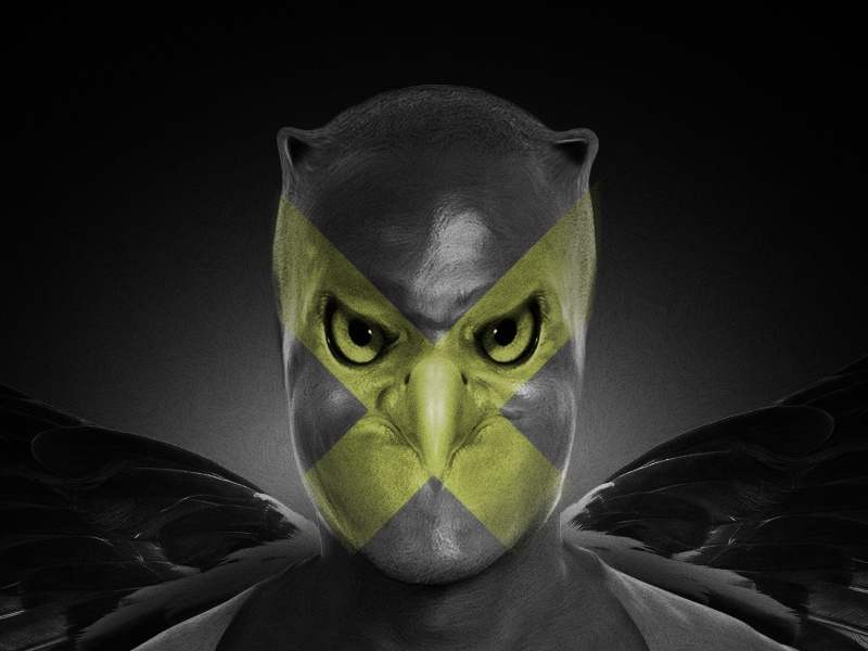 Bird Man photoshop wacom fun