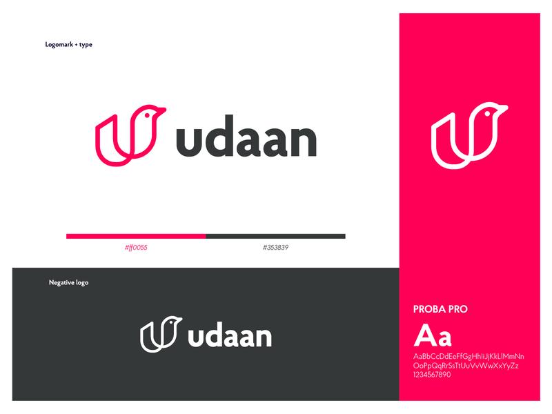 Udaan Logo! flying fly udaan bird lettermark typography concept logo design brand identity branding logo
