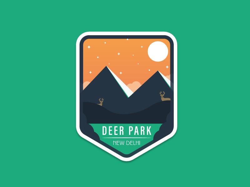 Deer Park Badge badge illustration illustrator design logo park deer