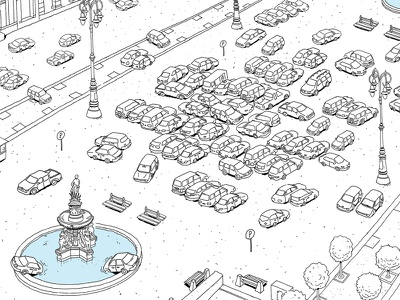 My city's main square full of cars mattias adolfson traffic cars city square