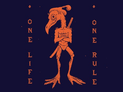 Tropical bird samurai! One life, one rule, be you