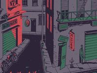 24 hours Vinyl cover illustration