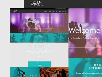 LOTWCC Church Website video responsive ux ui website