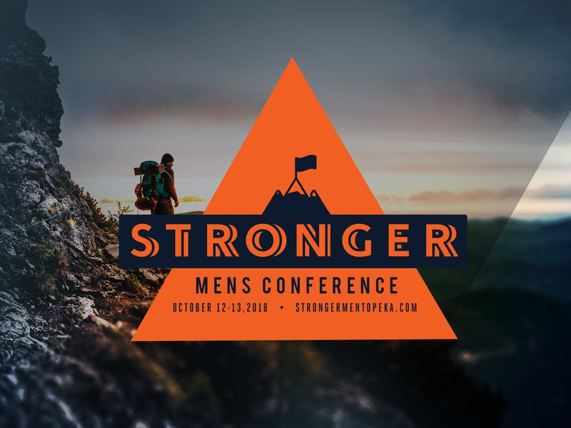Stronger Mens Conference Logo / Look graphic  design branding church conference logo conference logo