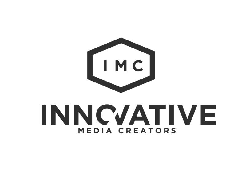 Innovative Media Creators Ad Agency Logo simple design bold ad agency branding logo
