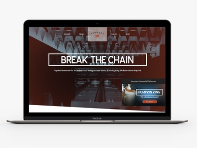 The Pennant Restaurant Website bowling re-branding restaurant restaurant design video website