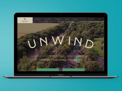 East Bank on Mill Creek Hotel / Resort Website hotel design video ux ui website