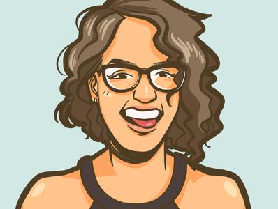 Portrait Illustration 12 lineart doodle portrait design comic art comic illustration