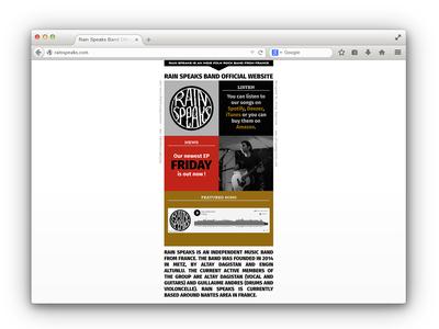 Rain Speaks Website Design