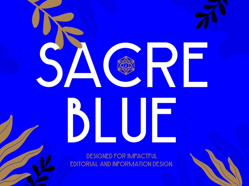 A new font: Sacre Blue ivanisawesome type typography sans serif typeface design font