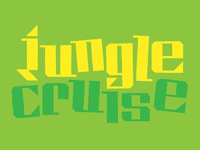 Jungle Cruise Type Exploration design customtype typeface design typography