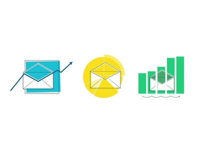 Email Performance Icons metrics report marketing data performance email icons