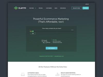 Pricing Page slider redesign website pricing