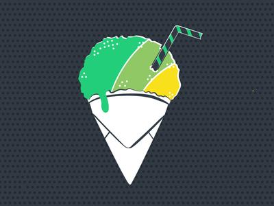 Email Sno-Cone tshirt design email marketing logo illustration