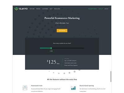Klaviyo Pricing Page - update pricing plan slider web design pricing page pricing table pricing