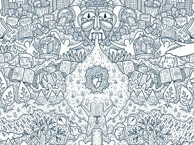 PASSATO PRESENTE FUTURO wacom digitalpainting dettagli doodleart doodle grafica illustrazione