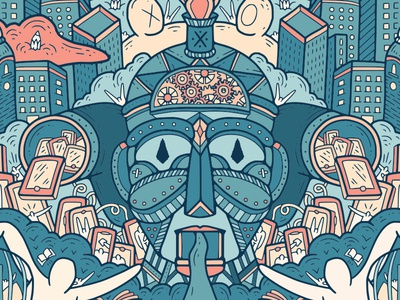 HUMAN ROBOT wacom digitalpainting dettagli doodleart doodle grafica illustrazione