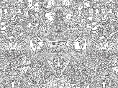 THE MIDDLE KINGDOM web details wacom digitalpainting dettagli doodleart doodle grafica graphic illustration illustrazione purgatorio