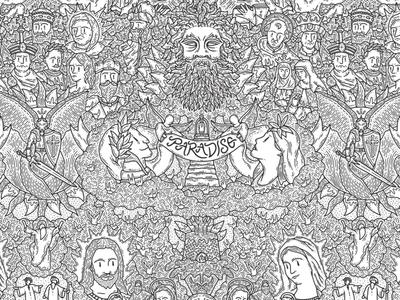 PARADISO web details wacom digitalpainting dettagli doodleart doodle grafica graphic illustration illustrazione paradiso
