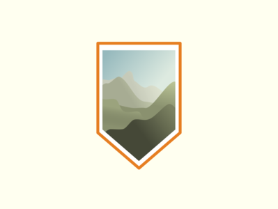 Mountain View flat mountains inkscape
