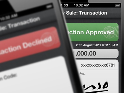 Transaction Approved and Declined ui iphone ios app design interface pattern linen