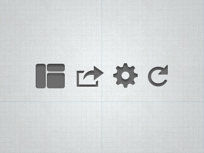Glyphs glyphs icons ui ipad