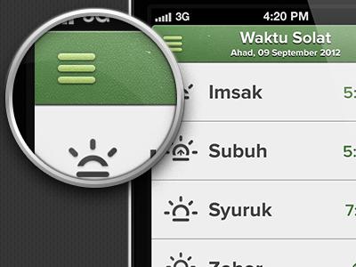 Custom Nav iphone navigation interface design ui ux ios6