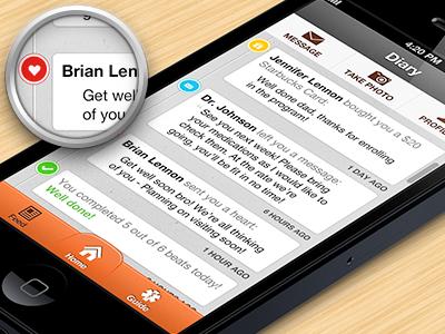 Social Feed iphone app ui design interface feed ios social