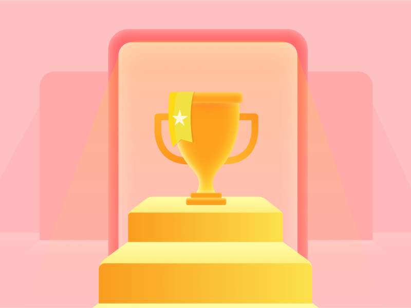 Win trophy win app illustration photoshop design