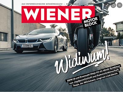 Wiener Motorblock editorial design online mag