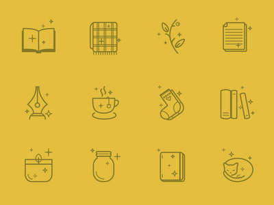 Bookish Icons : yellow