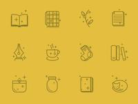 Bookish Icons : yellow