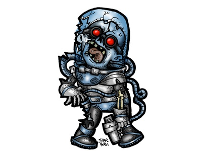 Zombie Mr Freeze zombie illustration