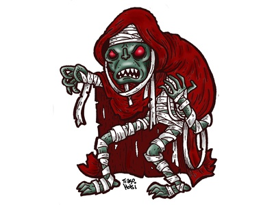 Mumm-Ra zombie illustration