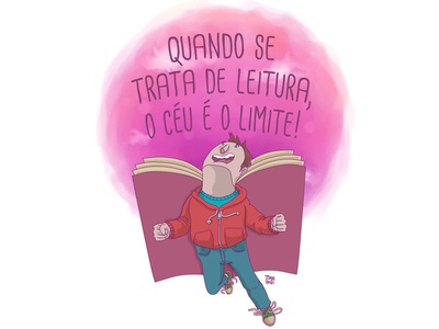 when it comes to reading , the sky is the limit. illustration