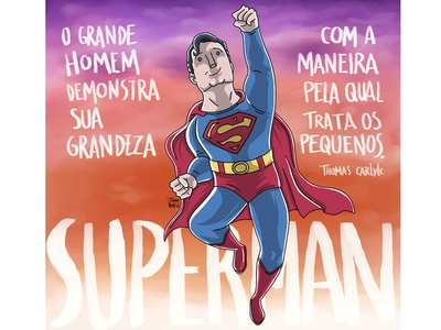 Superman cartoon comic illustration