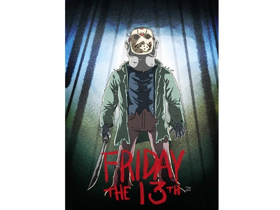 Friday The 13th cartoon comic illustration