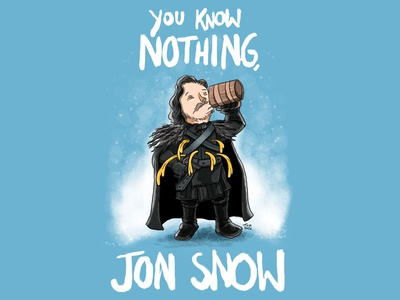 John Snow cartoon comic illustration