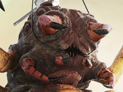 Captain Williams and Jimmy centipede character creature v-ray substance painter zbrush sculpting 3d scifi