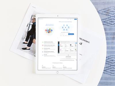 TeamWave Website On iPad