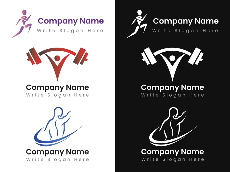 Fitness Logo Samples brand logos logodesign brand design brand identity typogaphy logo design branding ux ui vector art design art work illustration designing design