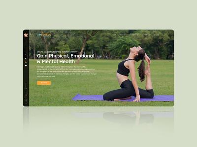 Gain Physical, Emotional and Mental Health gradient web design website builder websites website design website concept webdesign website branding landing page art design designing design yoga illustration yoga pose yoga mat yoga app yoga website yoga studio yoga