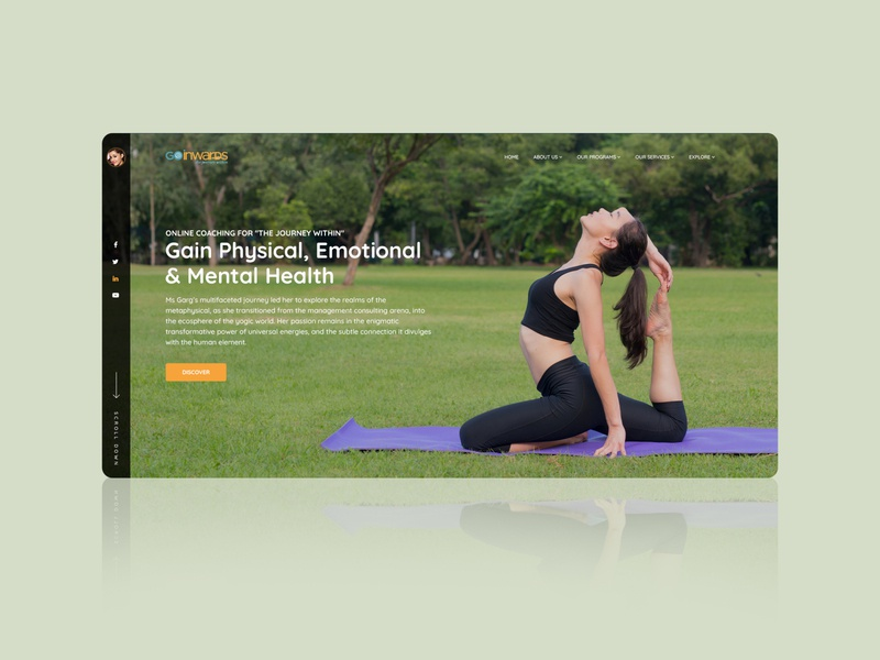 Gain Physical, Emotional and Mental Health gradient web design website builder websites website design website concept webdesign website branding landing page art design designing design yoga illustration yoga pose yoga mat yoga app yoga website yoga studio yoga
