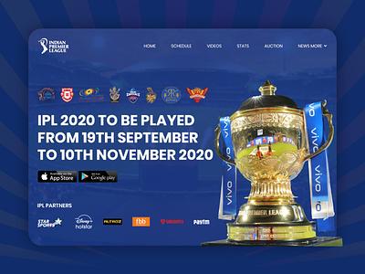IPL 2020 TO BE PLAYED FROM 19TH SEPTEMBER TO 10TH NOVEMBER 2020 branding ux ui vector art work art design illustration designing design back 2020 ipl