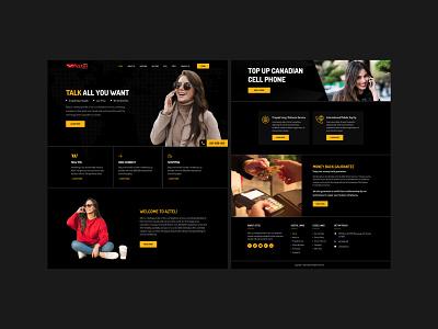 Aztel Homepage Design landing page website design app ui vector art work art design illustration designing design